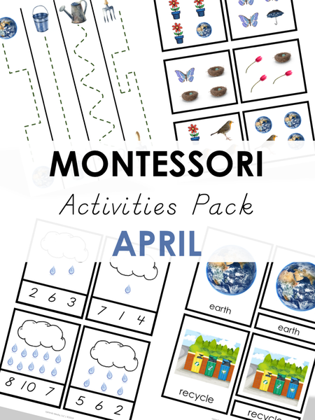 Montessori April Activities Pack