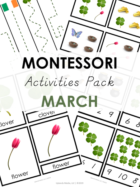 Montessori March Activities Pack