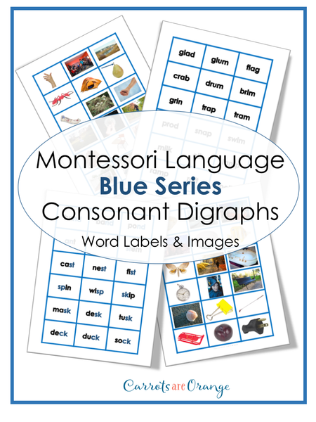 Montessori Language - Blue Level Word Labels & Images
