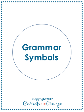 Grammar Symbol 3 Part Cards