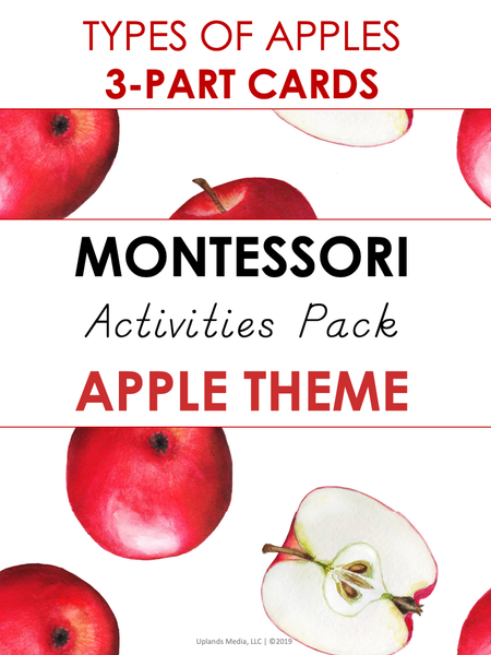 Montessori Activities Pack - Apple Theme