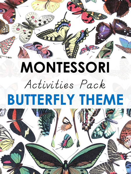 Montessori Activities Pack - Butterfly Theme