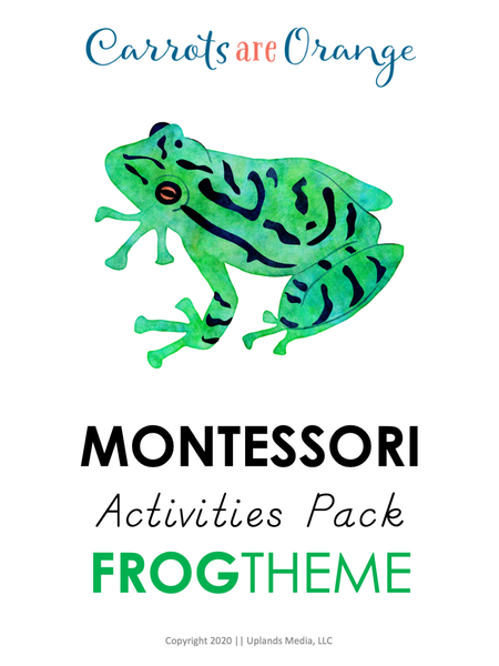 Montessori Activities Pack - Frog Themed