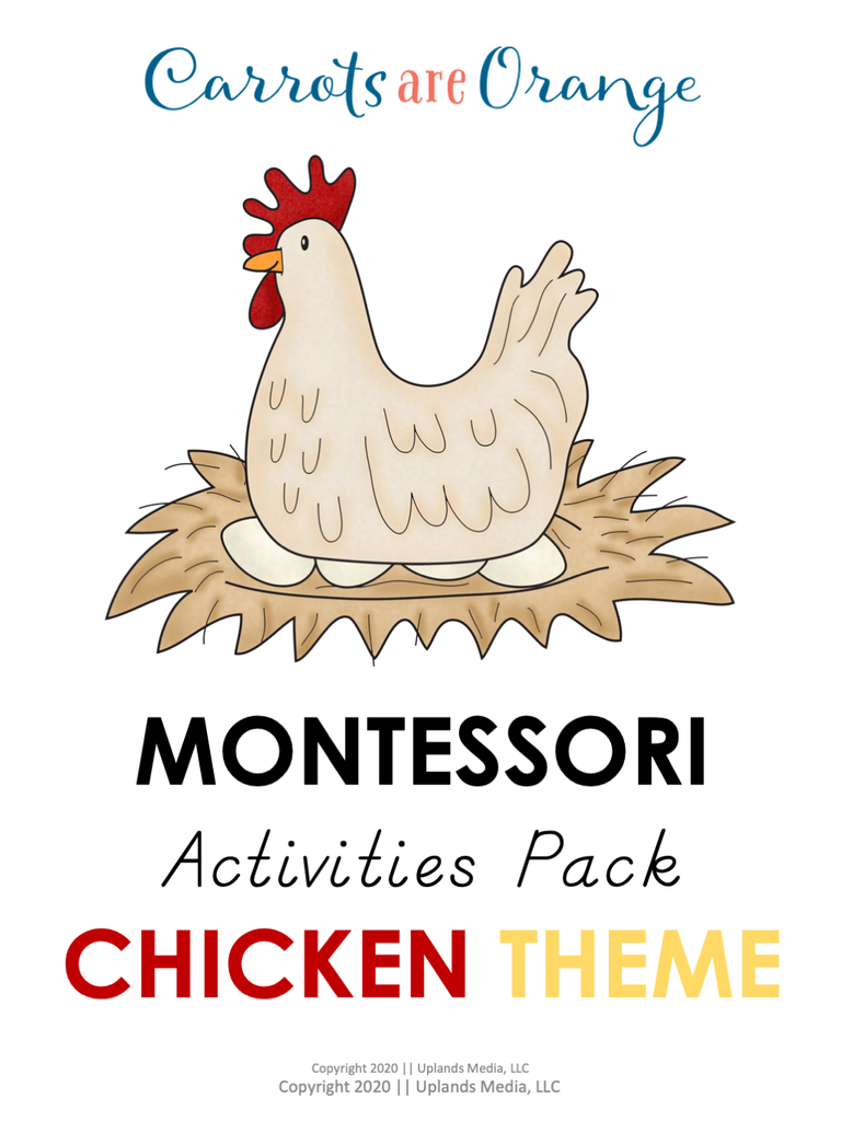 Montessori Activities Pack - Chicken Theme