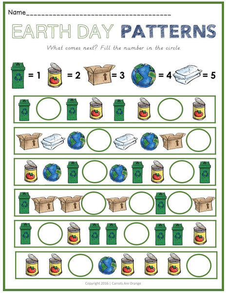 Beautiful Earth Day Activities Pack - Carrots Are Orange - 5