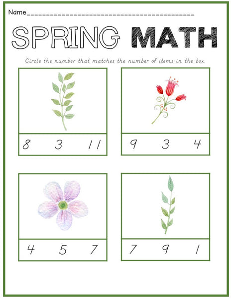Spring Math Cards - Carrots Are Orange - 2
