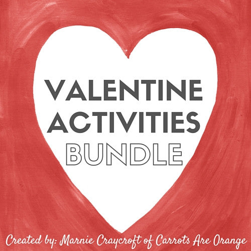 Valentine Activities Pack - Carrots Are Orange - 1