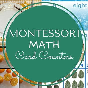 Montessori Math Card Counters Activities Pack - Carrots Are Orange - 2
