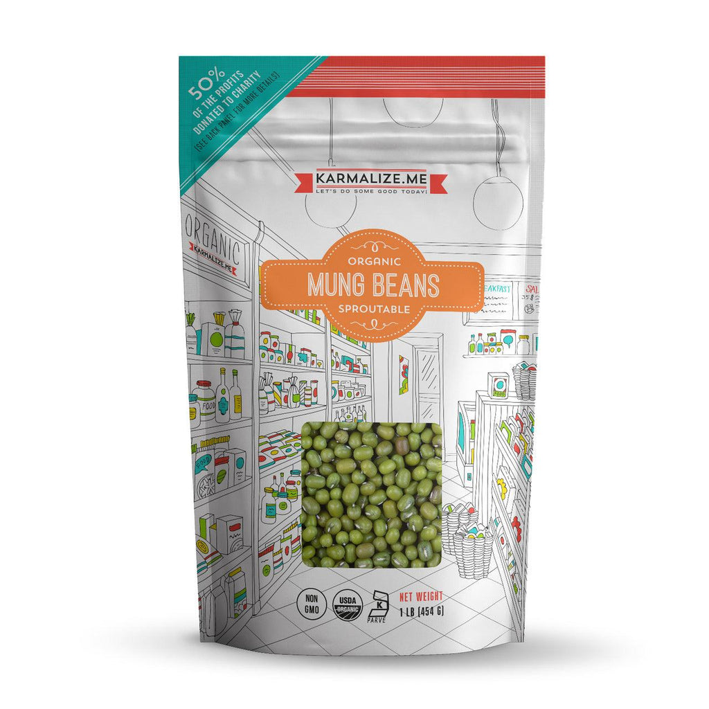 Organic Sprouting Seeds Mung Beans - 1lb