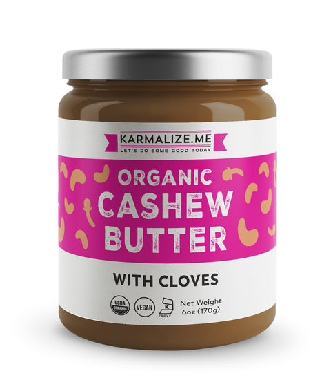 Organic Vegan Cashew butter with cloves