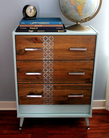 ikea hack, art is beauty, mid century modern, hickory hardware, square pulls