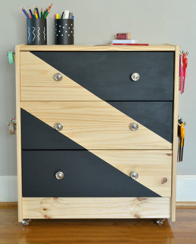 at home with the barkers, ikea hack, hickory hardware, knobs