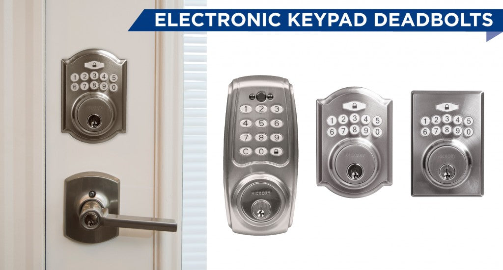 New Hickory Hardware Electronic Keypad Deadbolt Places Fingertip Secu