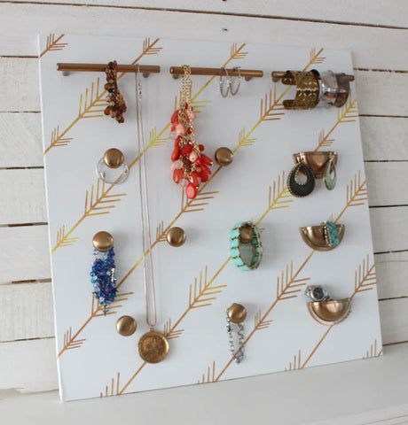 jewelry organized with hickory hardware knobs and pulls
