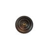 "Furniture Hardware Knob 1.5"" DIA in Brown Old Antique"