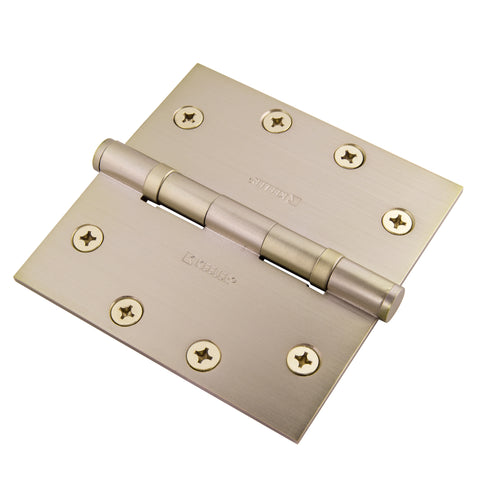 "Functional SQ Ball Bearing Hinge 4-1/2"" Solid Brass"