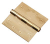 "Functional SQ Ball Bearing Hinge, 4"" Solid Brass"