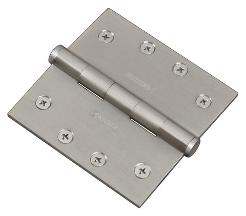 "Functional Square Hinge, 4"" Solid Brass"