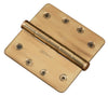 "Functional 1/4"" Rad Corner Hinge, 4"" Solid Brass"