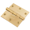 "Functional SQ Corner Hinge, 3-1/2"" Solid Brass"
