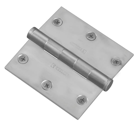 "Functional Square Hinge, 3-1/2"" Solid Brass"