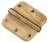 "Functional 5/8"" Rad Corner Hinge, 3-1/2"" Solid Brass"