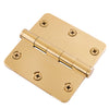 "Functional 1/4"" Corner Hinge, 3-1/2"" Solid Brass"