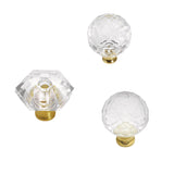 35mm Crystal Palace Crysacrylic Polished Brass Cabinet Knob