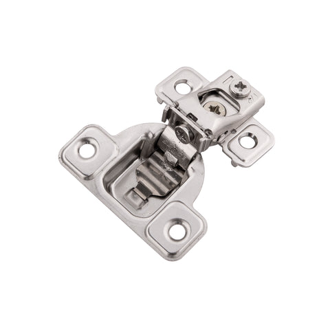 CONCEALED SELF-CLOSING 1/2 IN. OVERLAY FACE FRAME POLISHED NICKEL HINGES (2-PACK)