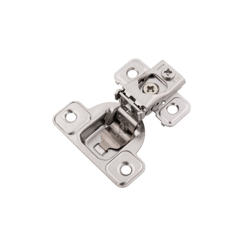 CONCEALED SELF-CLOSING 3/4 IN. OVERLAY FACE FRAME POLISHED NICKEL HINGES (2-PACK)