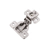 Concealed Self-Closing 1-1/4 in. Overlay Face Frame Polished Nickel Hinges (2-PACK)