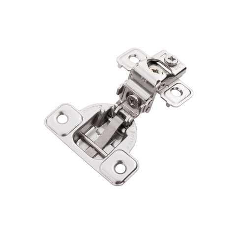 Concealed Self-Closing 1-3/8 in. Overlay Face Frame Polished Nickel Hinges (2-PACK)
