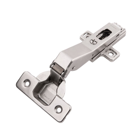 CONCEALED SELF-CLOSING FRAMELESS POLISHED NICKEL CORNER HINGES (2-PACK)
