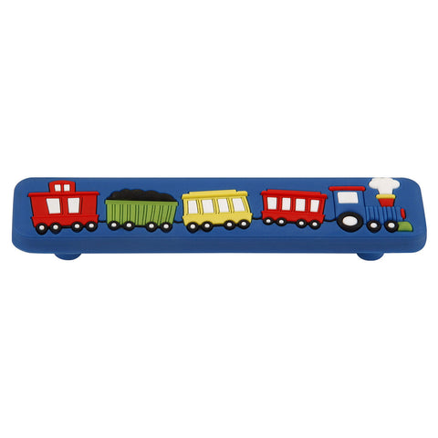 96mm Kids Long Blue Train Cabinet Pull