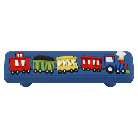 64mm Kids Short Blue Train Cabinet Pull