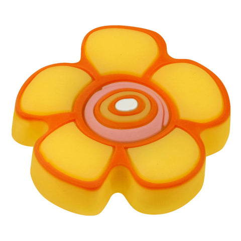 Kids Yellow Flower Cabinet Knob