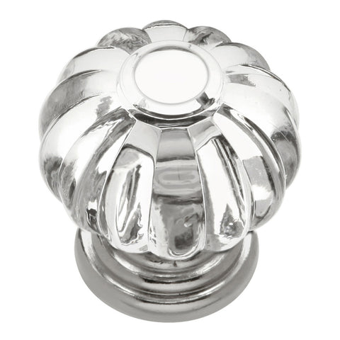 1-1/8 In. Crystal Palace Crysacrylic Bright Nickel Cabinet Knob