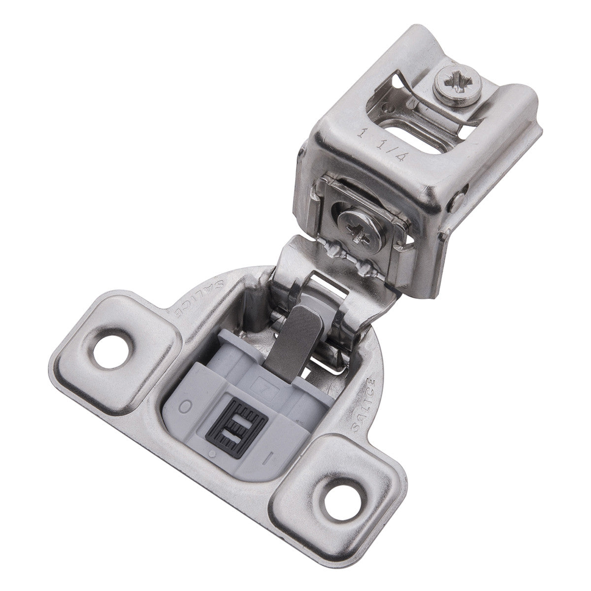 Stupendous Soft Close 1 1 4 In Overlay Face Frame Polished Nickel Hinge Download Free Architecture Designs Itiscsunscenecom