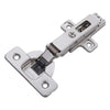 Soft Close Full Overlay Frameless Bright Nickel Cabinet Hinge (2-Pack)