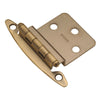 Semi-Concealed 3/8 In. Inset Hinge (2-Pack)
