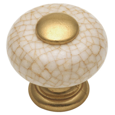 1 In. Tranquility Vintage Brown Crackle Cabinet Knob