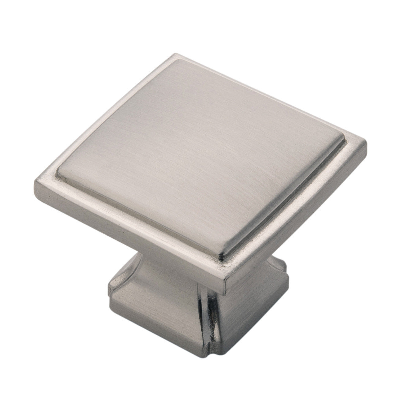 Silver 1 1/4 In. Square Bridges Cabinet Knob ...