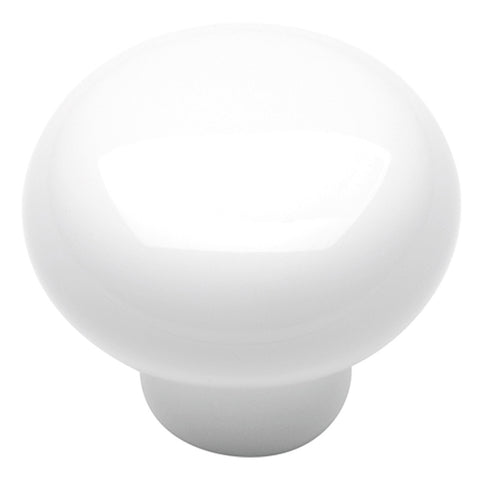 1-3/8 In. English Cozy White Cabinet Knob