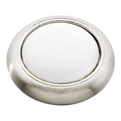 Satin Nickel with White / regular