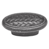 2 In. Catamaran Vibra Pewter Oval Cabinet Knob