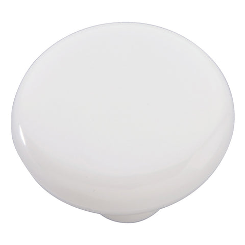 1-1/2 In. Midway White Cabinet Knob