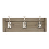 "3 Hook 17-1/2"" Skylight Hook Rail, Glazed Grey in Polished Nickel"
