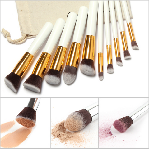 10 Piece Professional Makeup Kit, Includes FREE Draw String Makeup Bag - Simply Paris Boutique