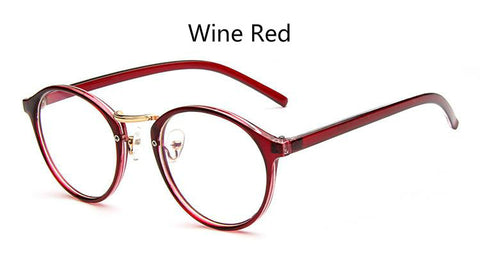 Anewish Ultra Light Retro Myopia Round Eyeglasses