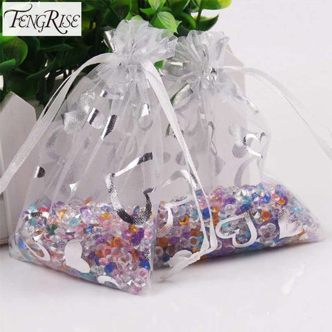 100 Pieces Organza Drawstring Gift Bag